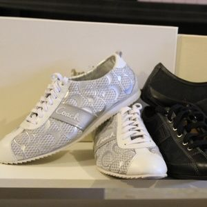 Coach White/Silver Lace Up Shoes